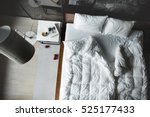 View From Above At The Bed Wit...