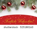 christmas decoration background ... | Shutterstock . vector #525180163