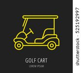 logo or label golf. line style... | Shutterstock .eps vector #525192997