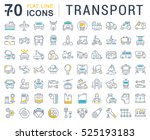 Set vector line icons in flat design transport, mechanics, electronics with elements for mobile concepts and web apps. Collection modern infographic logo and pictogram. | Shutterstock vector #525193183