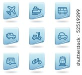 transport icons  blue sticker... | Shutterstock .eps vector #52519399