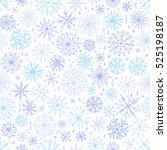 vector seamless snowflake...   Shutterstock .eps vector #525198187