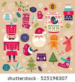 christmas collection. vector... | Shutterstock .eps vector #525198307