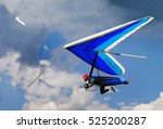 Small photo of Hang gliding in Greifenburg, Austria, FAI European Championship 2009. Three gliders and dramatic cloudy sky.
