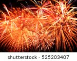 beautiful colorful fireworks in ... | Shutterstock . vector #525203407