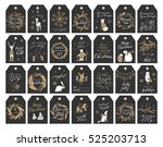 vector big collection of hand... | Shutterstock .eps vector #525203713