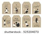 vector big collection of hand... | Shutterstock .eps vector #525204073
