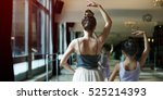 ballet dancer training school... | Shutterstock . vector #525214393