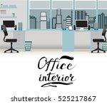 office interior vector business ... | Shutterstock .eps vector #525217867