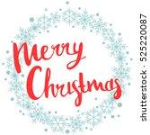 marry christmas. print design | Shutterstock .eps vector #525220087
