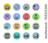 transport icons | Shutterstock .eps vector #525221263