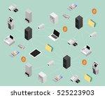 concept illustration for block... | Shutterstock . vector #525223903