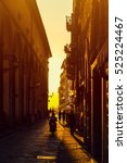 italy florence city old street... | Shutterstock . vector #525224467