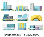 set of isolated shopping mall... | Shutterstock .eps vector #525225097