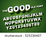 vector of big retro 3d alphabet | Shutterstock .eps vector #525230407