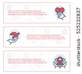 simple banners set of charity ... | Shutterstock .eps vector #525232837