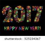 greeting card  black background ... | Shutterstock .eps vector #525234367
