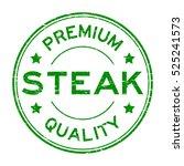 grunge green premium quality... | Shutterstock .eps vector #525241573