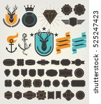 set of retro vintage badges and ... | Shutterstock .eps vector #525247423