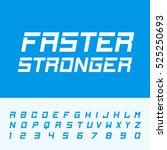 fast strong alphabet font....   Shutterstock .eps vector #525250693