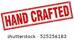 hand crafted. stamp. square... | Shutterstock .eps vector #525256183