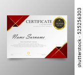 certificate template awards... | Shutterstock .eps vector #525256303