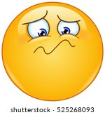 emoticon feeling unwell  sad ... | Shutterstock .eps vector #525268093