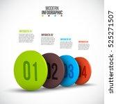 vector isometric circle... | Shutterstock .eps vector #525271507