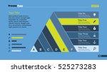 six ribbon list diagram slide...   Shutterstock .eps vector #525273283
