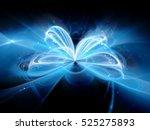 blue glowing quantum... | Shutterstock . vector #525275893