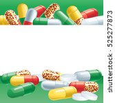 capsules. abstract background... | Shutterstock . vector #525277873