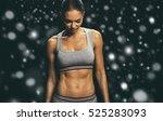 sport. winter woman sport body... | Shutterstock . vector #525283093
