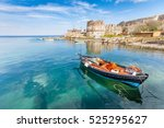 old harbor of mytilini in... | Shutterstock . vector #525295627