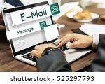 e mail global communications...   Shutterstock . vector #525297793
