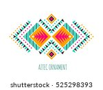 aztec style colorful ornament.... | Shutterstock .eps vector #525298393