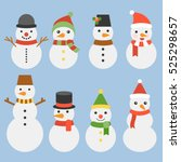 snowman collection for... | Shutterstock .eps vector #525298657