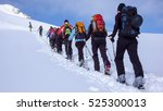 A Group Backcountry Skiers Climbing - Fine Art prints