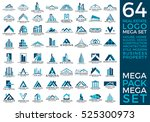 mega set and big group  real... | Shutterstock .eps vector #525300973