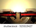 antique typewriter   old rusty... | Shutterstock . vector #525315427