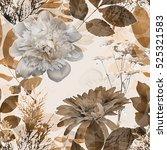 art vintage blurred monochrome... | Shutterstock . vector #525321583