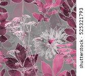 art vintage blurred monochrome... | Shutterstock . vector #525321793