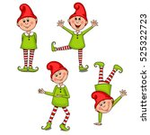 set funny gnomes. vector clip... | Shutterstock .eps vector #525322723