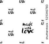 monochrome romantic seamless... | Shutterstock .eps vector #525340783