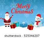 santa claus and snowman. | Shutterstock .eps vector #525346207