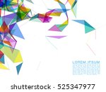 abstract colorful shapes on... | Shutterstock .eps vector #525347977