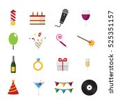 birthday new year party... | Shutterstock .eps vector #525351157