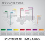 infographic world color... | Shutterstock .eps vector #525352003