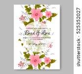 elegance wedding invitation... | Shutterstock .eps vector #525352027