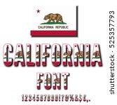 california usa state flag font. ... | Shutterstock .eps vector #525357793