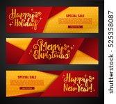 set template design merry... | Shutterstock .eps vector #525358087